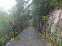 Montée sur l'aqueduc