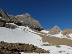 La neige dès le col de Boucharo