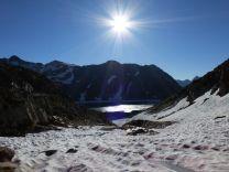 Le lac depuis le col de Certascan (2585m)