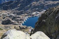 Lac de Migouèlou en montant vers le col de l'Hospitalet