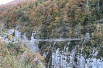 Passerelle d'Holzarté : Construite en 1920, par un ingénieur italien pour les forestiers locaux