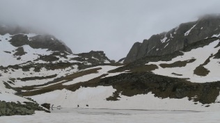 Col de Peyreget depuis le lac de Peyreget