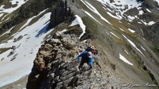 Puy Arcol : un peu aérien à gravir