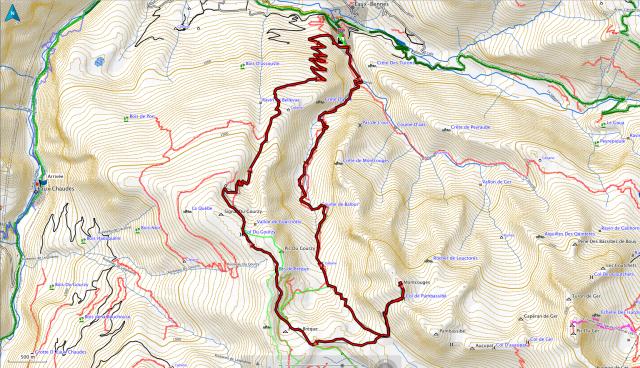 Le tracé de la boucle Moncourges