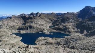 Depuis le pic, le lac de Bramatuero Alto