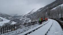 Nouveau viaduc au dessus de la vallée d'Aspe