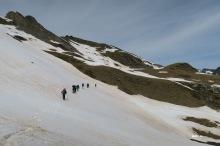Direction la face ouest de la Montagnette