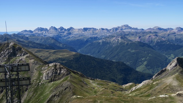 Depuis le sommet : panorama sud