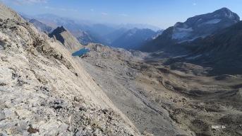 Depuis le Petit Astazou, le Mont Perdu et le Lac Glacé