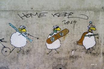 Street art dans les paravalanches