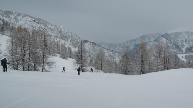 Bonne neige, mauvaise visibilité.