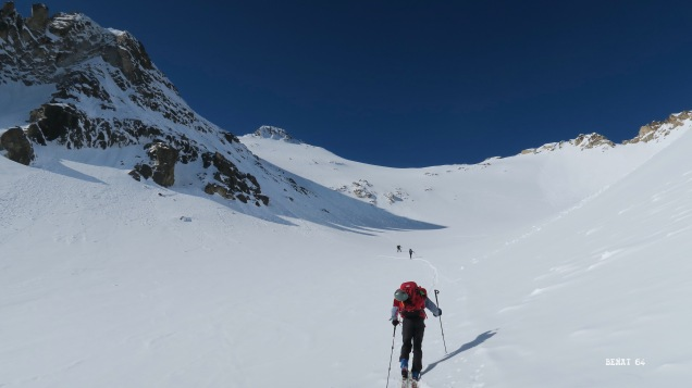 Remontée de l'ancien glacier du Néouvielle