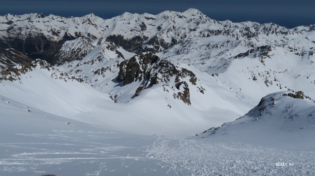 de l'ex-glacier nord du Néouvielle jusqu'à la Hourquette d'Aubert