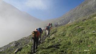 vallon de Lassas : sortie du brouillard