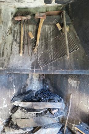 intérieur cosy à la cabane de Mauvèsi