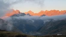 sunset vers le Palas et le Bala