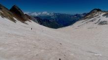 partie haute du glacier