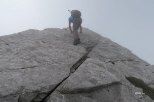 main au rocher au sommet 2410