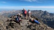 la cuadrilla au sommet du Lurien